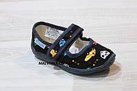 Тапочки на мальчика Виталия  24,25.5 р машинки синие арт 8877., фото 1
