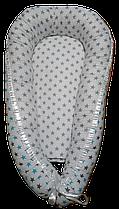 Колыбелька-кокон (гнездышко) для новорожденных Белый звезды