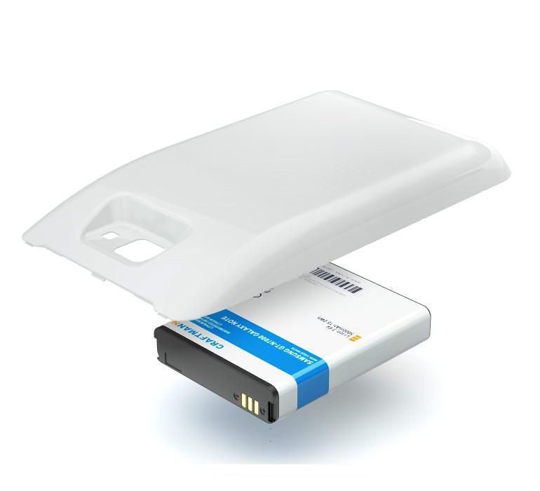 Аккумулятор батарея для SAMSUNG GT-N7000 GALAXY NOTE (EB615268VU) WHITE Усиленный 5000mAh Craftmann