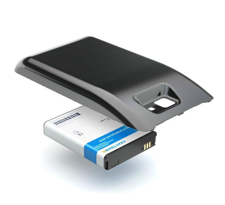 Аккумулятор батарея для SAMSUNG GT-N7000 GALAXY NOTE (EB615268VU) BLACK УСИЛЕННЫЙ 5000mAh Craftmann