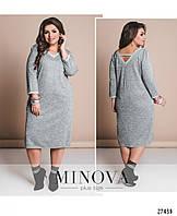 Стильное платье     (размеры 48-62)  0148-99