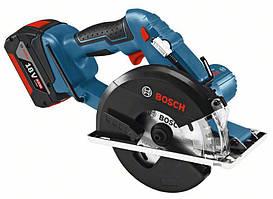 Пила дисковая аккумуляторная по металлу Bosch GKM 18 V-LI (L-boox)