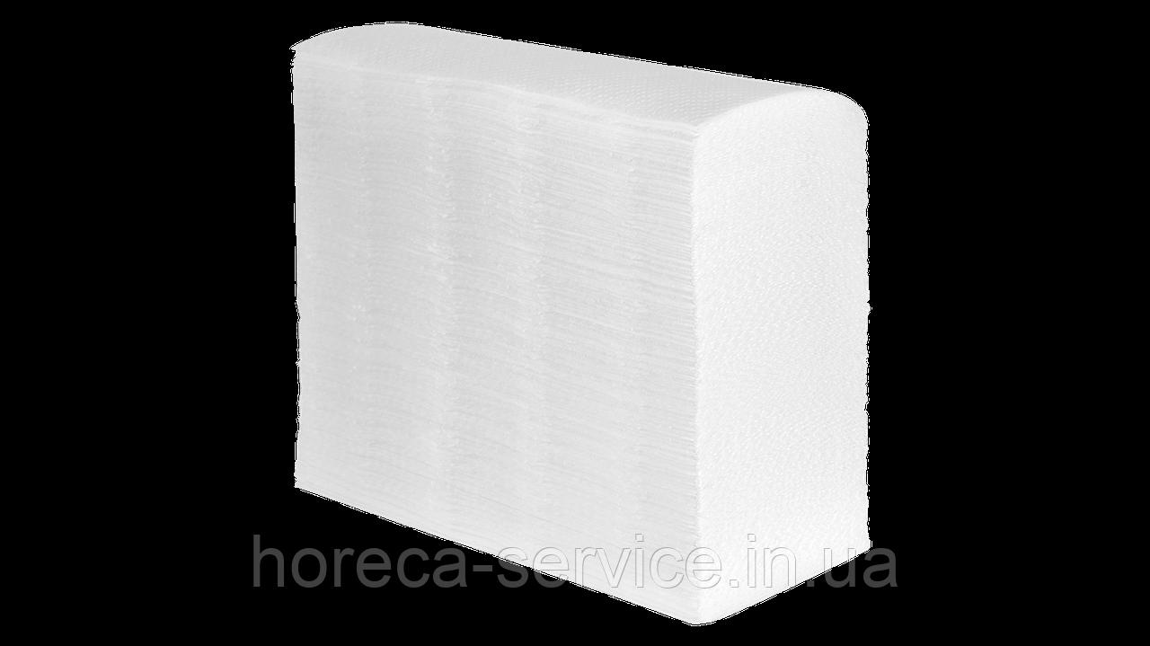 Бумажные полотенца PAPERO Zукладки,целлюлоза.двухслойное белое 200шт