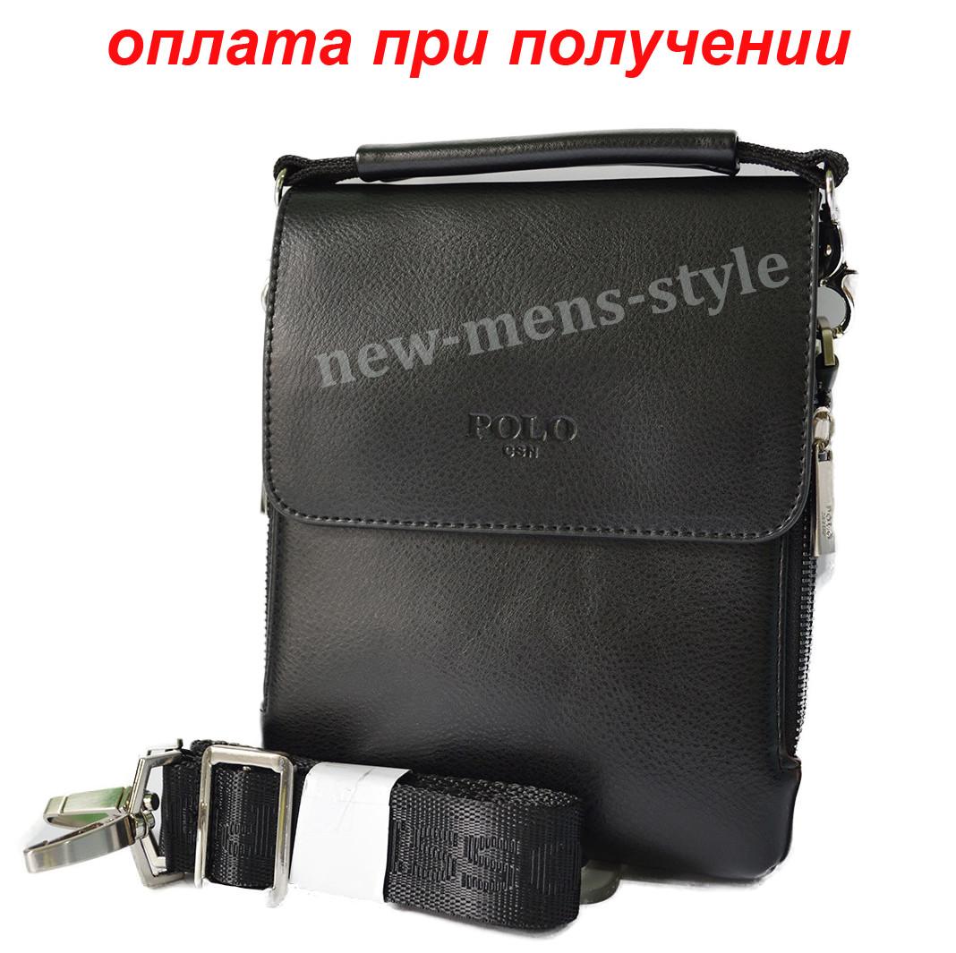 Чоловіча шкіряна фірмова сумка барсетка Polo купити