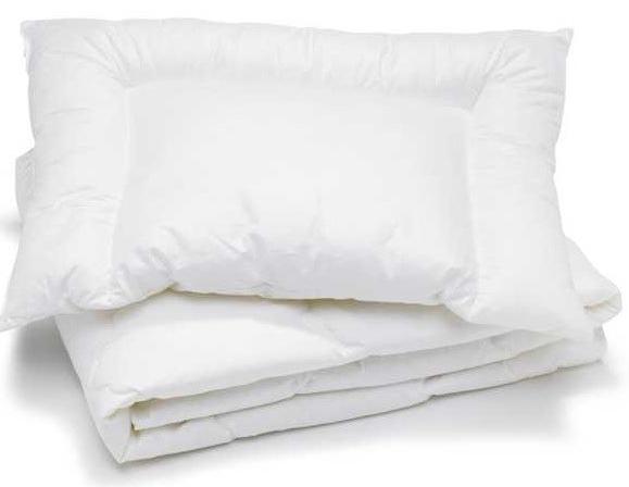 Комплект подушка и одеяло из антиалергенного силикона (МАЛЕНЬКОЕ ОДЕЯЛО 120х90 см)