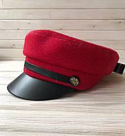 Модная женская кепи, картуз, весенняя кепка, шапка с кожаным козырьком