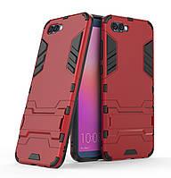 Бронированный противоударный чехол Stand для Huawei Honor 10 Dante Red