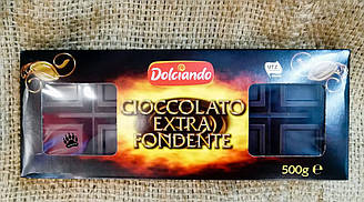 Шоколад черный Dolciando cioccolato extra fondente 500 gram