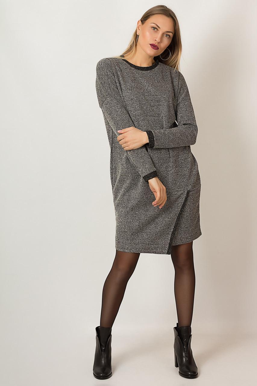 Платье LiLove р15119.1 46-48 серый