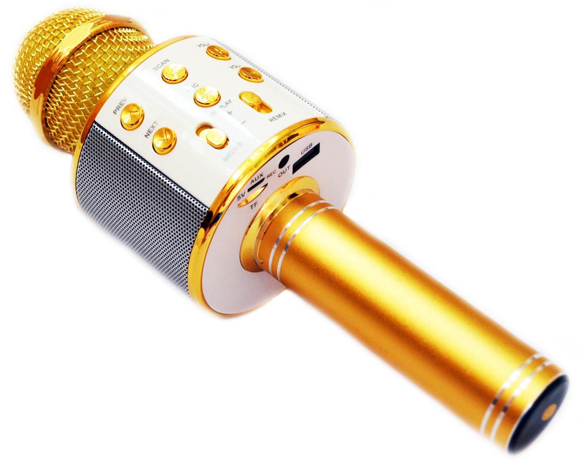 Микрофон Караоке Wester WS-858 портативная колонка