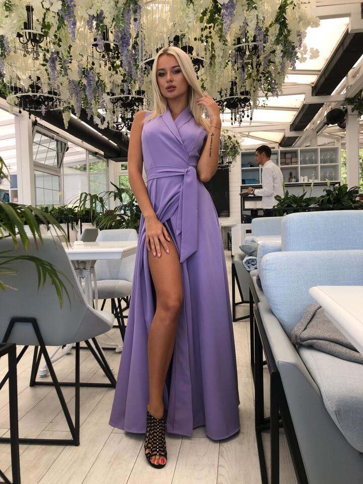 Длинное платье на запах с карманами / 4 цвета арт 8426-613