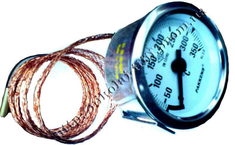 Термометр железный с капиляром (1м)