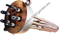 """Блок-ТЕН С внутренней резьбой 2,5"""" на 15 кВт из 3-х тенов, для электрического котла отопления"""