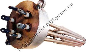 Блок-ТЕН С внутренней резьбой 4,5 кВт из 3-х тенов, для электрического котла отопления