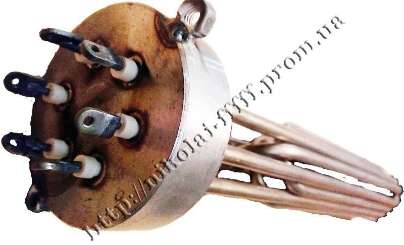"""Блок-ТЕН С внутренней резьбой 2,5"""" на  9 кВт из 3-х тенов, для электрического котла отопления"""