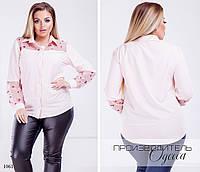 Рубашка женская софт+вышивка на сетке 48,50,52,54, фото 1