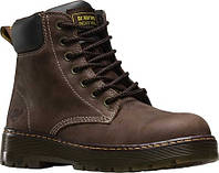 Мужские ботинки Dr. Martens Work Winch 7 Eye Steel Toe Boot Dark Brown  Wyoming Oiled 3e8529d328b0e