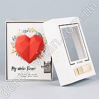 """Ароматический набор """"Полигональное сердце"""" в подарочной коробке, красный"""