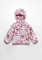 """Куртка-жилет (трансформер) для девочки """"Animals"""" (1,5-4 года)"""