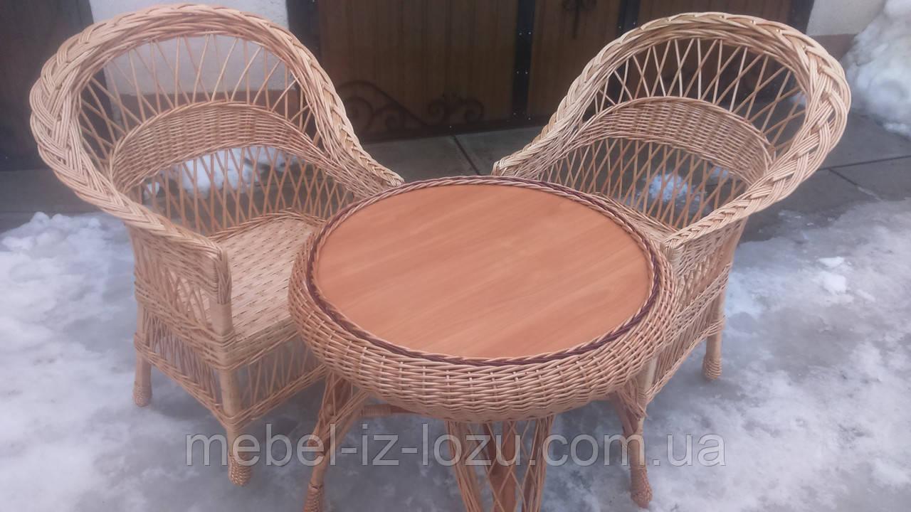 """2 кресла """"Обычные"""" и круглый стол """"Гриб"""""""