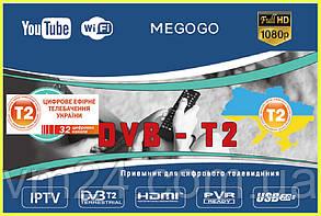 Цифровой TV-тюнер DVB-T2 эфирный DVB-T2- IPTV + YouTube + MEGOGO-USB   Цифровой Тюнер Т2