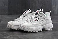 Кроссовки женские белые кожаные осенние стильные  Fila Disraptor 2 Фила Дисраптор 2 37
