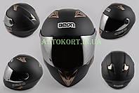 Шлем-интеграл   (mod:B-500) (size:XL, черный матовый, зеркальный визор)   BEON
