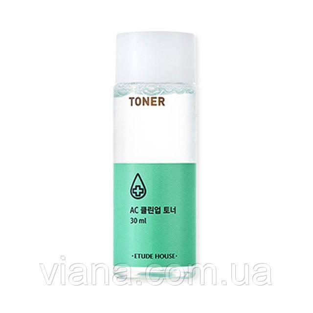Тонер противоспалительный для проблемной кожи с акне ETUDE HOUSE AC Clean Up Gel Toner30 ml