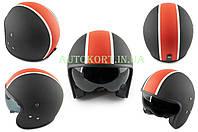 Шлем открытый   (mod:062) (size:L, черно-красный матовый, солнцезащитные очки)   LS2