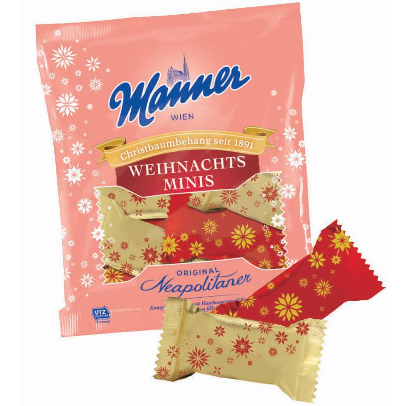 Вафли Manner Neapolitaner Weihnachts-Minis