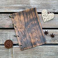 Блокноты с деревянной обложкой. На кольцах. А5. (А00607)