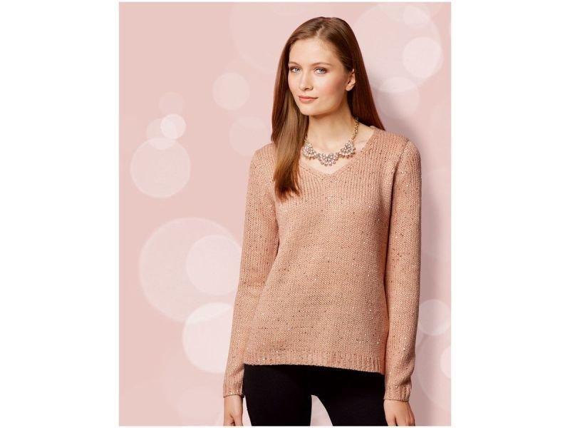 Шикарный персиковый свитер в пайетки Esmara, германия, размер S
