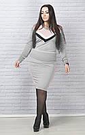Костюм женский кофта и юбка в расцветках 26482, фото 1