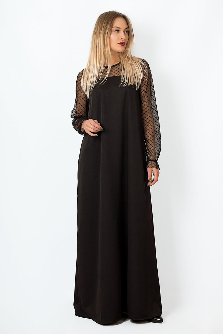 Платье LiLove р15140-2 46-48 черный