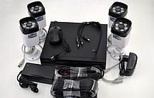 Комплект камер видеонаблюдения D001-4CH (4 камеры)