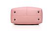 Сумка женская классическая набор 3 в 1 Розовый, фото 8
