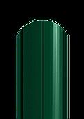 Штакет полукруглый двухсторонний полиестер 6005 темно-зеленый