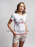 Піжама ELLEN жіноча шорти+футболка Стильні Собачки 189 001 c64126ab0b1e0
