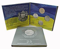 365.Буклет 25 років незалежності України 25 лет Независимости 2016 4 МОНЕТИ
