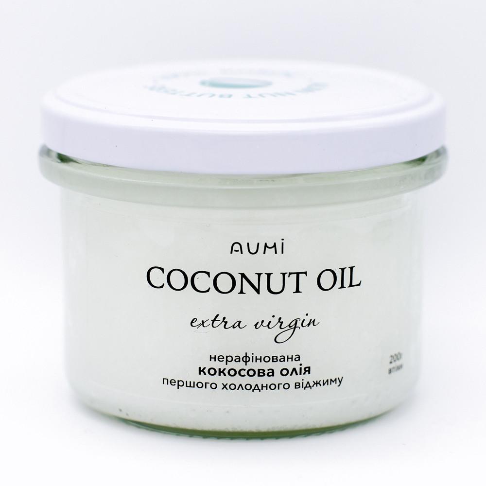 Кокосовое масло нерафинированное, 230мл, сыродавоенное первого холодного отжима, кокосова олія