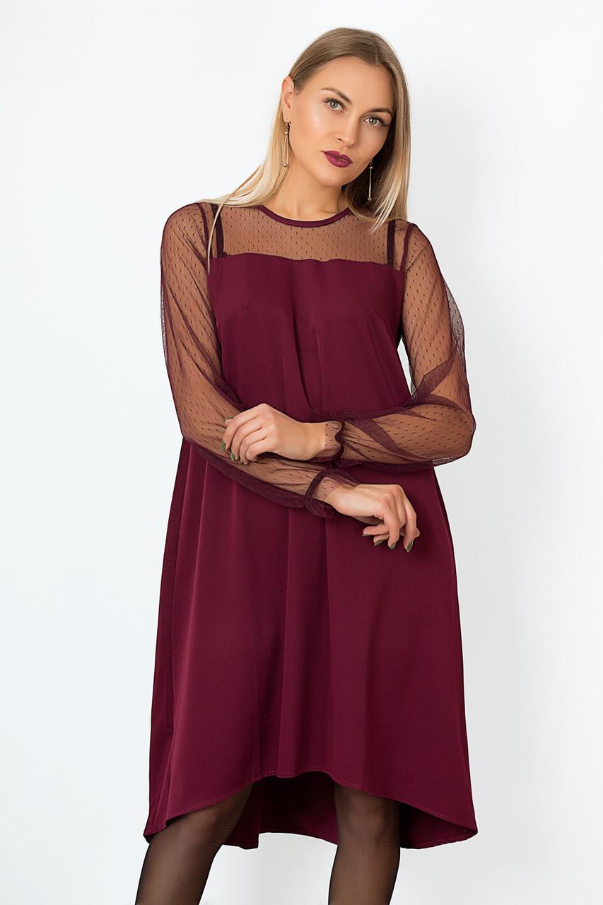 Платье LiLove р15.139 50-52 бордовый