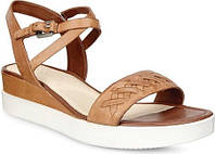 Женские сандали ECCO Touch Braided Plateau Ankle Strap Sandal Whisky Cow  Nubuck a0bcc09ff06fc
