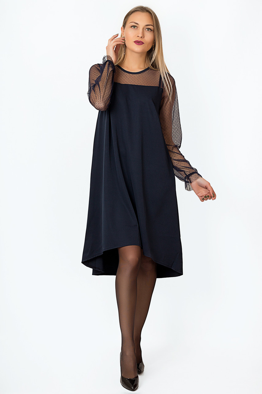 Платье LiLove р15139.1-1 42-44 темно-синий