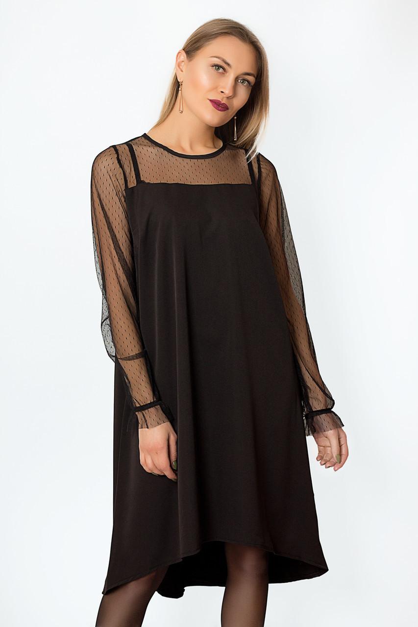 Платье LiLove р15139.1-2 46-48 черный