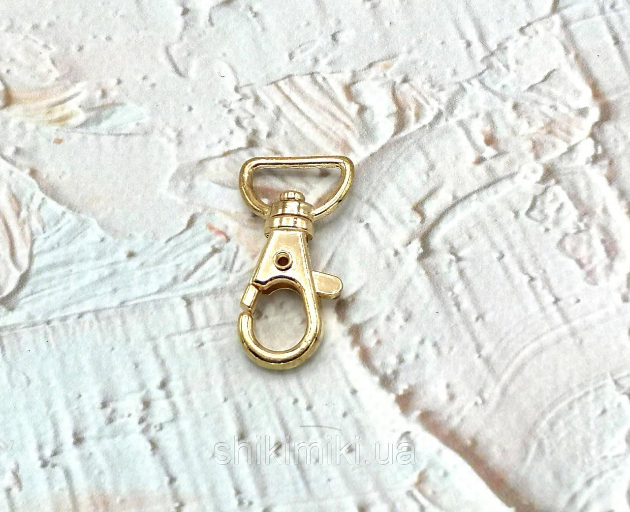 Карабин для сумок KR07-3 (15 мм), цвет золото
