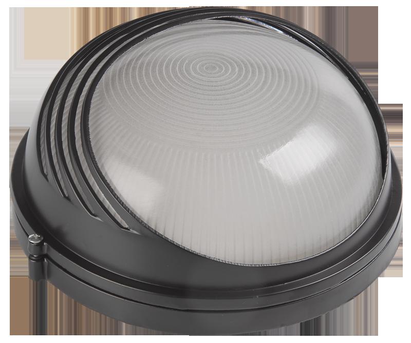 Светильник НПП1107 черный/круг ресничка 100Вт IP54  ИЭК (LNPP0-1107-1-100-K02)