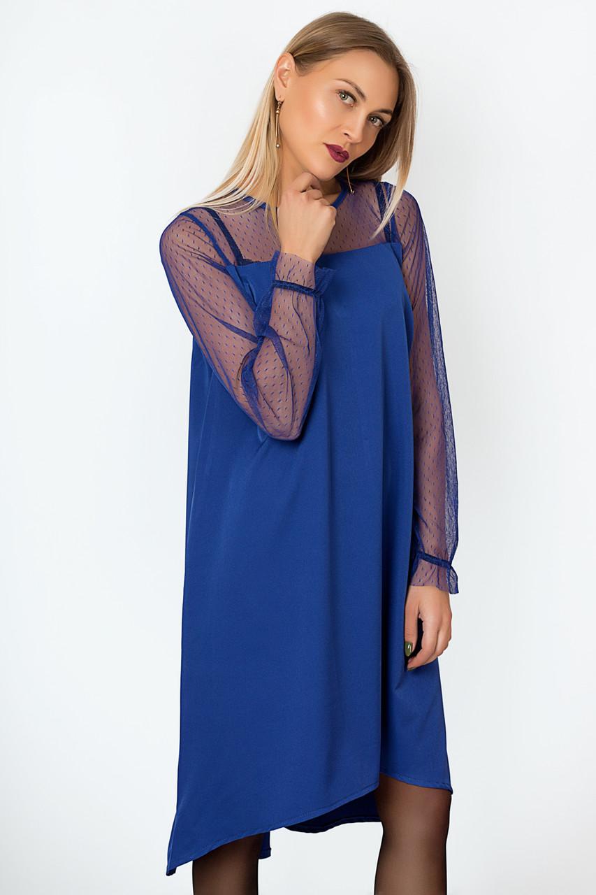 Платье LiLove р15.139-3 50-52 электрик