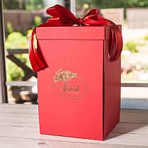 Подарункова коробка для троянди в колбі Lerosh - 27 см, Червоний