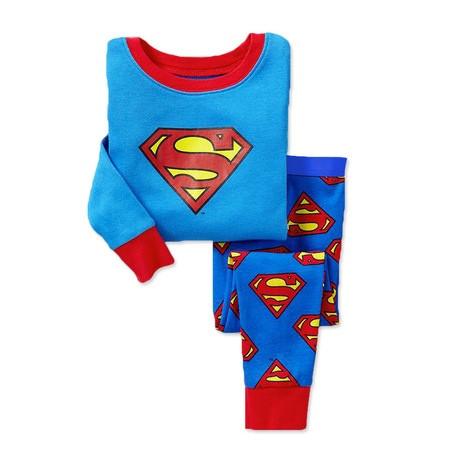 Пижама детская для мальчика  коттоновая  Супермен  2,4 года синяя