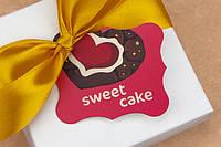 """Бирка декоративная 117 """"Sweet cake"""""""
